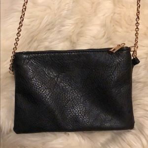 Handbags - Multi-Pocket Black Chain Crossbody Bag